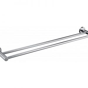 Double Classic Chrome Towel Rail 1