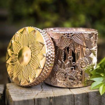 Lotus Jar Gold Candle