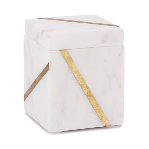 Mont Blanc Marble & Brass Cotton Jar