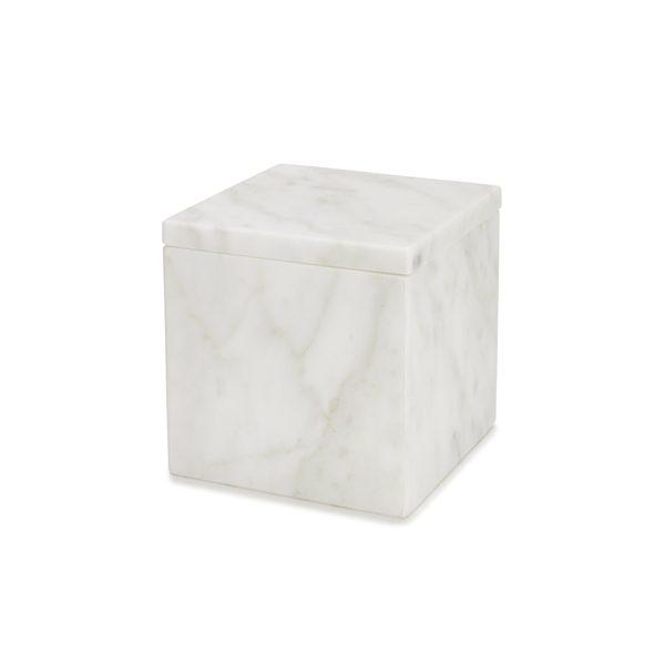 Italian Marble Cotton Jar