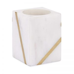 Marble and Brass Toothbrush holder