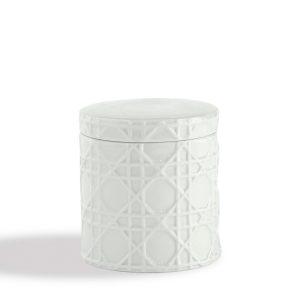 Rattan Porcelain Cotton Jar